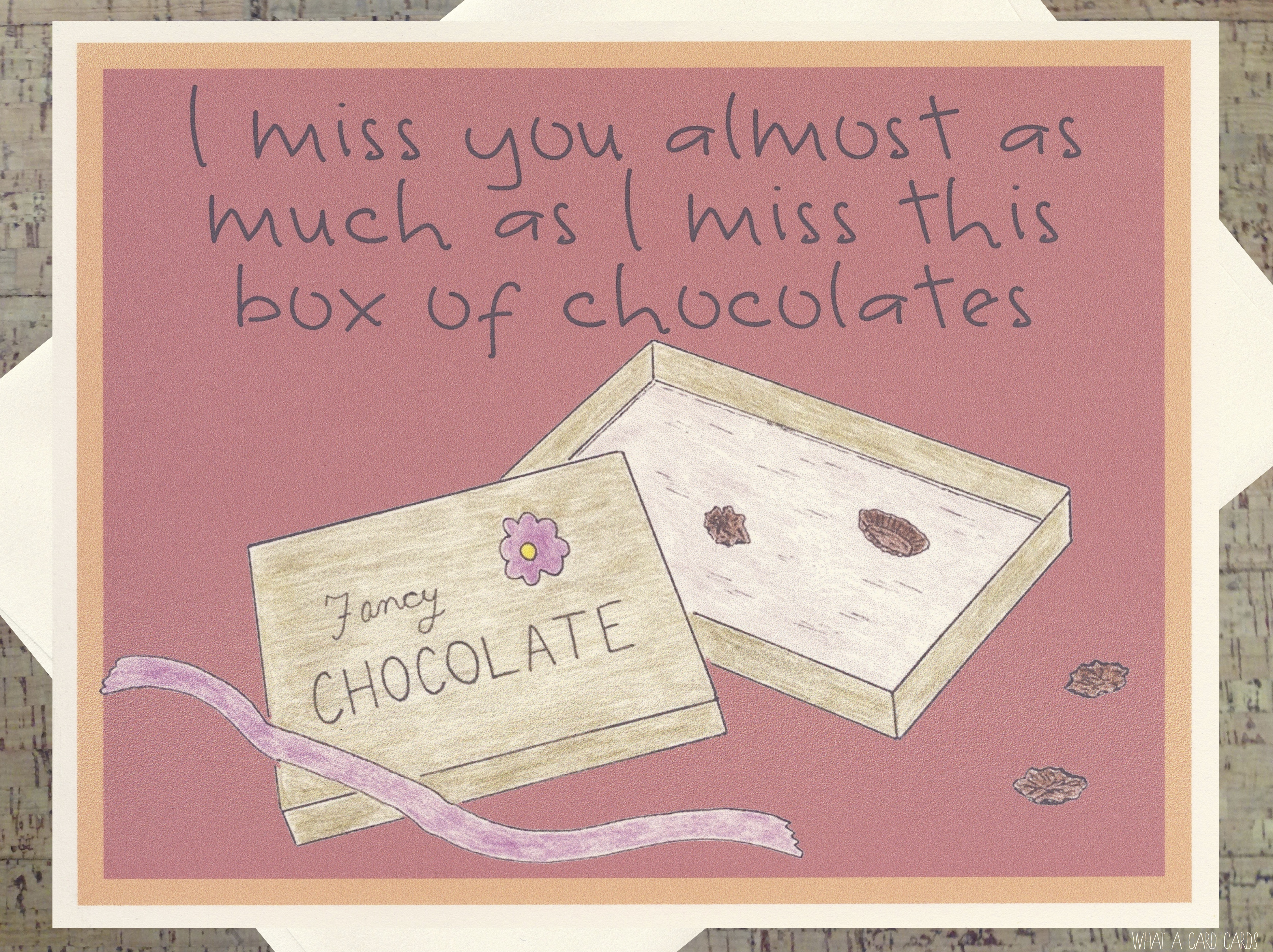 Chocolate what a card cards boxofchocolates m4hsunfo
